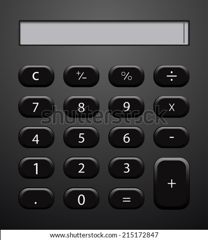 Vector concept modern calculator background. Eps 10