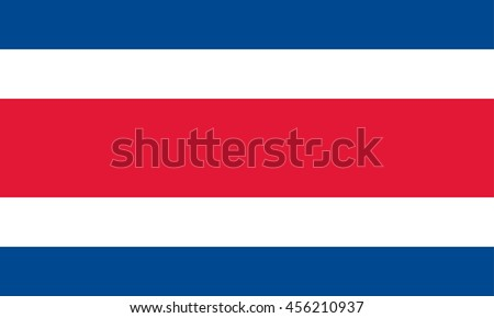 Vector Costa Rica flag