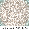 vector cute doodle background with sea stars and shells - stock vector