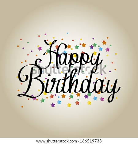 Vector Cute Happy Birthday Greeting Card Vector 166520114 – Unique Happy Birthday Greetings