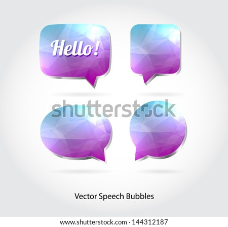 Vector 3d speech bubbles collection