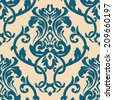 Vector damask pattern - stock vector