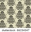vector damask seamless background - stock vector