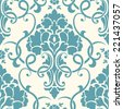 Vector damask seamless pattern element. Elegant luxury texture for wallpapers, backgrounds and page fill. - stock