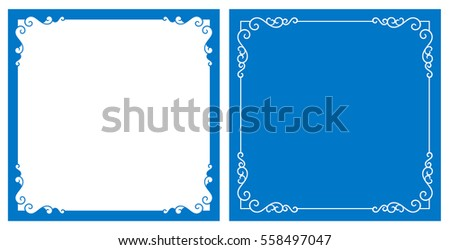 Vector decorative frame and background (Eps)
