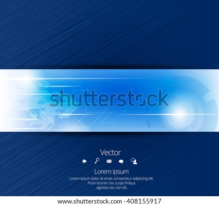 Vector design banner technology background