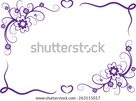 Vector Line Butterfly Border Stock Vector 287955620 ...  Shutterstock Border Design Free Download
