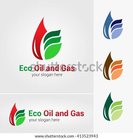 Vector Set Eco Logos Leaves Organic Stock Vector 383607352 ...