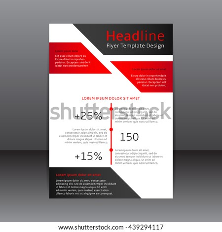 Design Black Red Flyer Vector Illustration Stock Vector