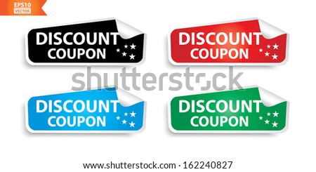 Vector: Discount Coupon stickers. Eps10.