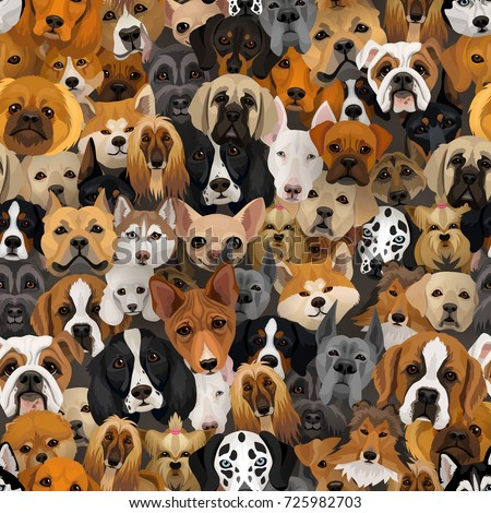 Vector surprised openeyed dog comics pop stock vector 682569106 vector dogs different breeds seamless pattern or wrapping paper 2018 year of dog background with husky voltagebd Choice Image