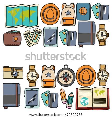Printing Polygraphy Colorful Icons Set Digital Stock