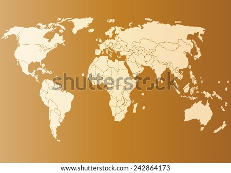 Vector drawing world map for background and text,Monochrome Worldmap Vector template for website, design, cover, annual reports, infographics. Flat Earth Graph World map illustration.