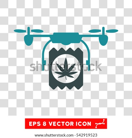 Vector Drone Drugs Delivery EPS Icon Illustration Style Is Flat Iconic Bicolor Soft Blue