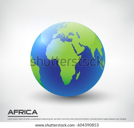 Earth globe icon map europevector world vectores en stock 599246924 vector earth globe icon globe with map of africa gumiabroncs Choice Image