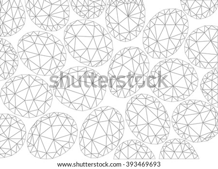 Vector Easter pattern. Polygonal vector background.
