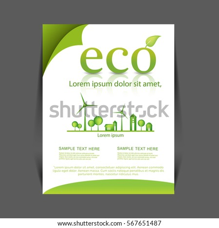 Earth day flyer stock vector 402619195 shutterstock for Environment brochure template