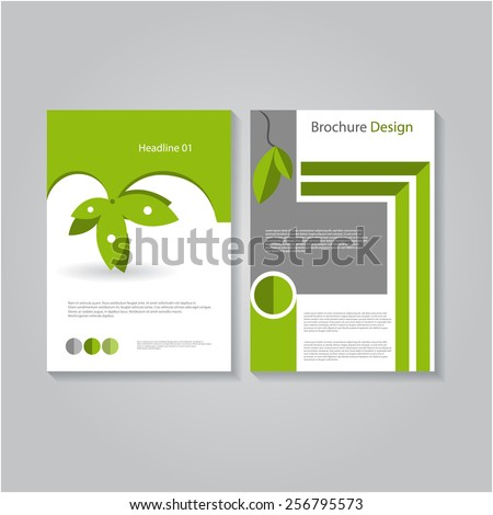 Vector Eco Flyer Template, Poster Cover,Brochure Design.
