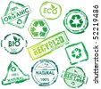 Vector eco stamp set - stock vector