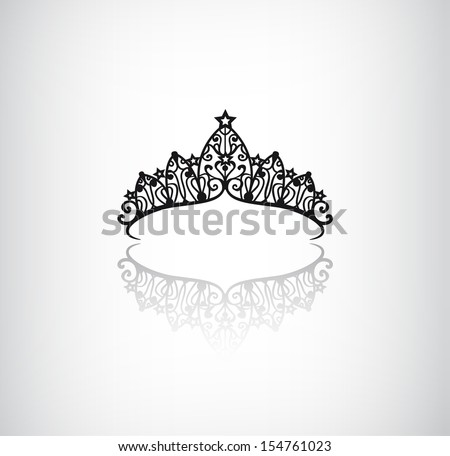 vector elegant decorated crown logo icon with star isolated