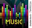 Vector elegant music background - stock vector