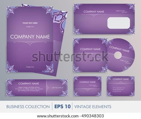 Vector Elegant Vintage Corporate Design Artworks Vector – Business Cards Invitations
