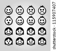 Vector emotion icons. - stock photo