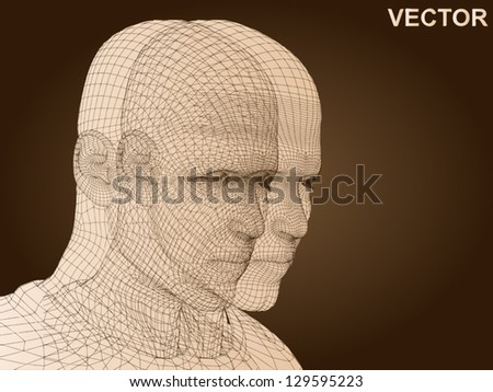 wideeyed female mummy covered bandages stock photo