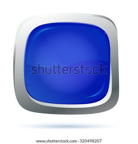 vector file of blue button