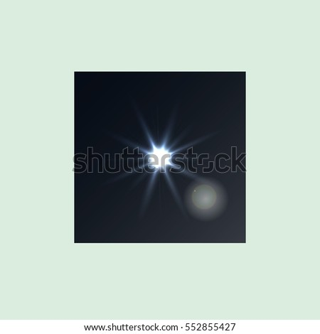Vector flash image on a black background