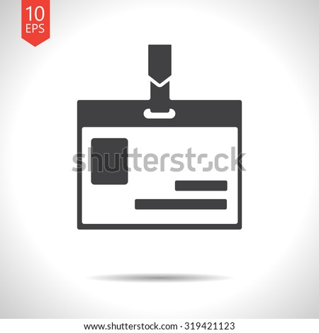 Vector flat black badge icon on white background