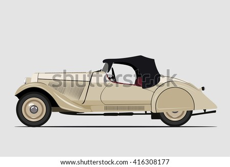 Vector Flat Design Creative Transportation Icon Stock Vector