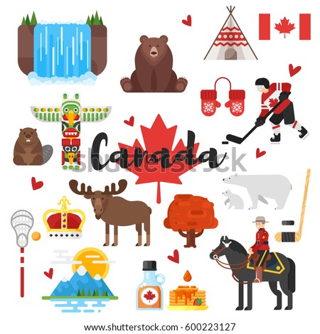Set Canada Icons Stock Vector 442313671 - Shutterstock