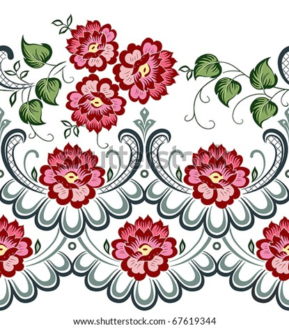 vector floral pattern stock vector 67651246 shutterstock rh shutterstock com vector floral pattern stencil vector floral pattern wallpaper