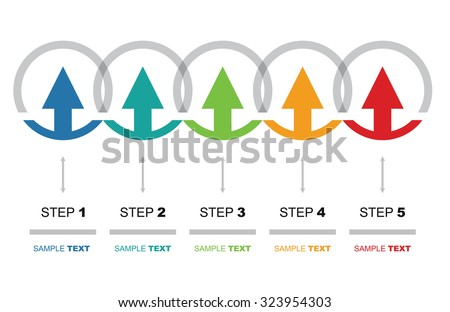 Vector Flow Chart Template Color Arrows Stock Vector 323954303