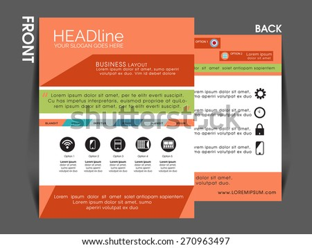 vector flyer, brochure, magazine cover template can be used for printing and publishing.