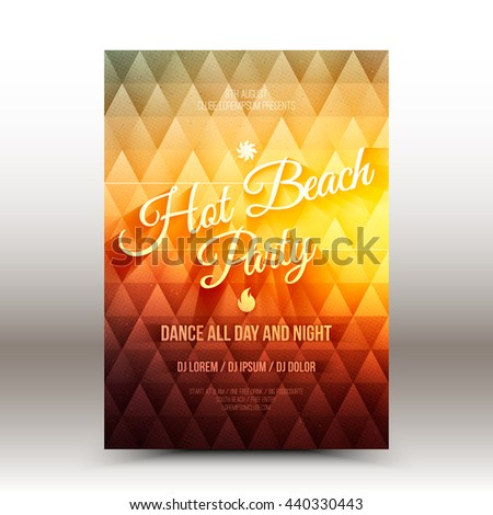 Awesome happy diwali festival invitation flyer stock vector vector flyer design template hot beach party stopboris Image collections