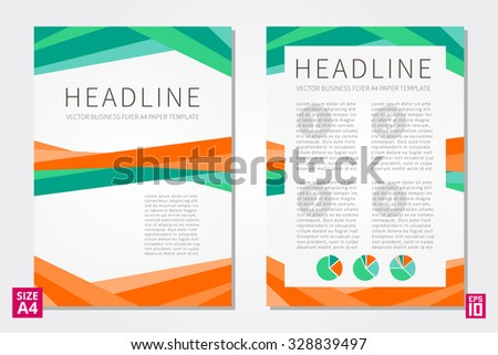 Vector Flyer Poster Leaflet Annual Report Stock Vector 330758246