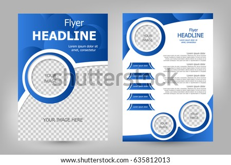 Vector Flyer Template Design Pink Color Stock Vector 351353966