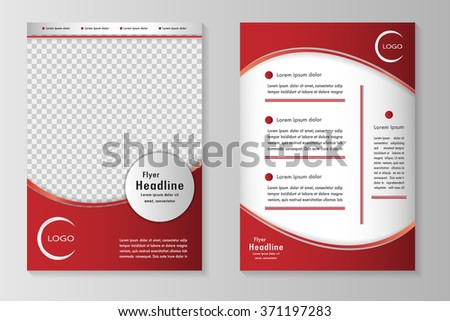 Red Flyer Design Template Brochure Annual Stock Vector