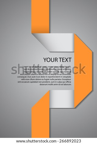 Vector : Fold paper and space for text.