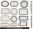 Vector Frame labels Set ornamental vintage decoration - stock vector