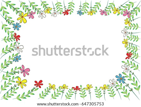 Vector Garden Border Stock Vector 647305750 Shutterstock