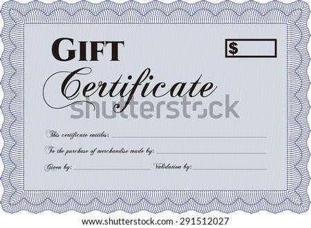 Retro gift certificate template customizable easy stock vector vector gift certificate template easy to print customizable easy to edit and change yelopaper Choice Image