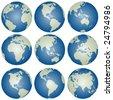 vector globes - stock vector