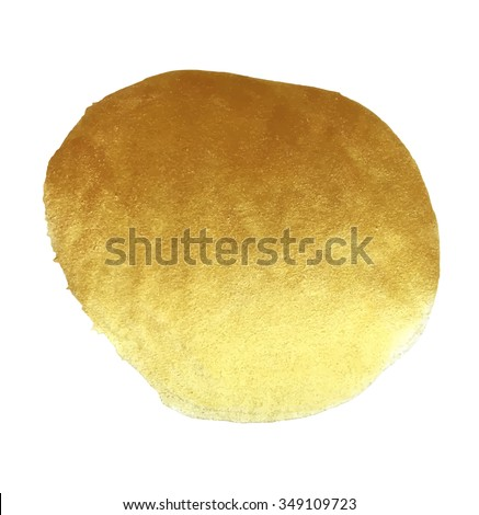 Vector golden foil round background template for cards, hand drawn backdrop - invitations, posters, cards.