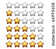 vector golden shiny rating stars - stock