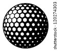 vector golf ball symbol - stock photo