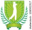 vector golf emblem - stock vector