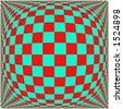 vector graphic depicting op art/pop art checkerboard pattern background - stock photo